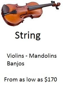 Violins Banjos Mandolins